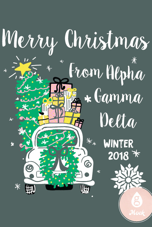Alpha Gamma Delta Christmas Car