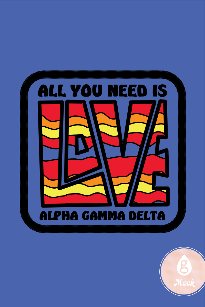 Alpha Gamma Delta Wavy Sunset Love