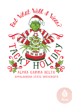 Alpha Gamma Delta Tacky Holiday Grinch