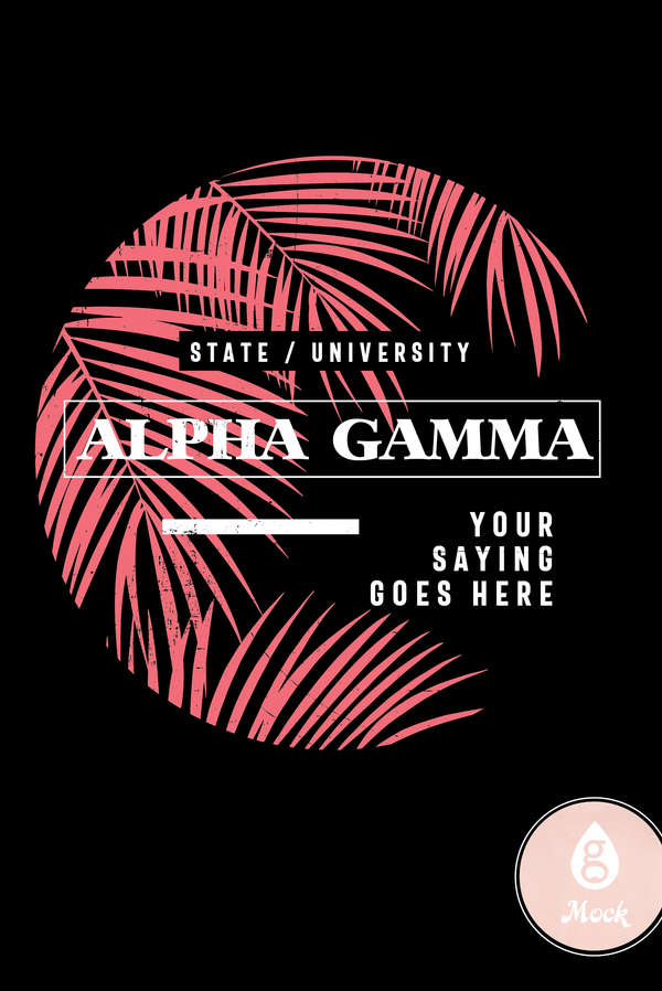 Alpha Gamma Delta Palm Leaves