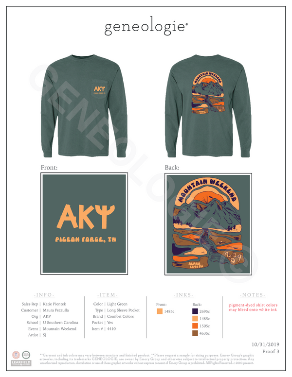 Alpha Kappa Psi Mountain Weekend $26.75