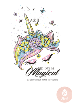 Alpha Omicron Pi Magical Unicorn