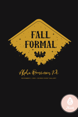 Alpha Omicron Pi Formal Fall Leaves