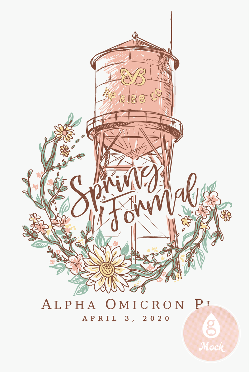 Alpha Omicron Pi Formal Spring Water Tower