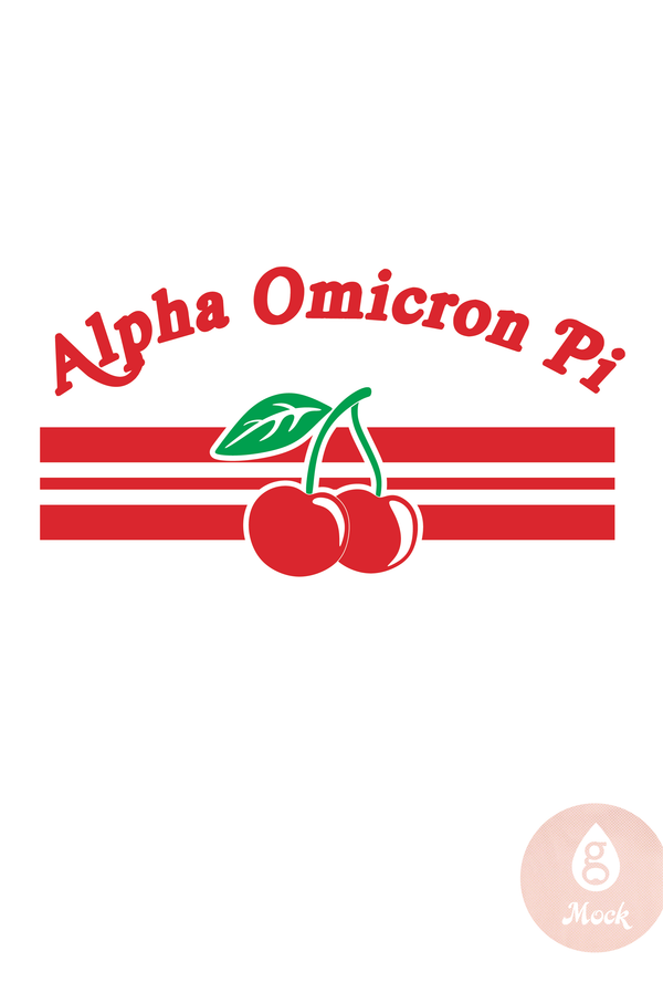 Alpha Omicron Pi Vintage Cherries