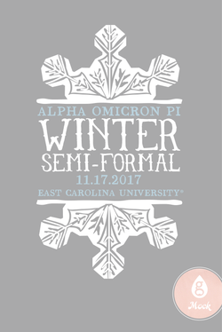 Alpha Omicron Pi Winter Formal Snowflake