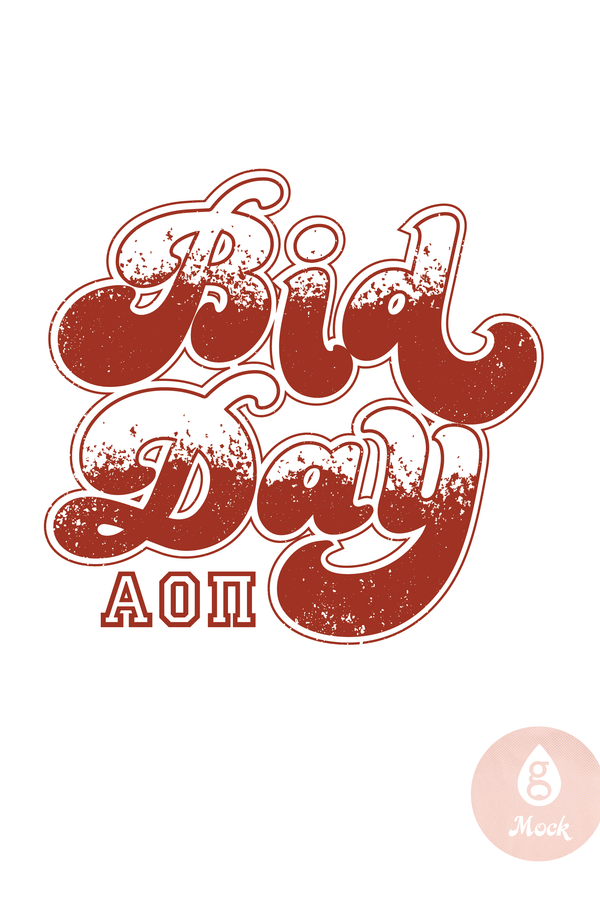 Alpha Omicron Pi Bidday whitetored