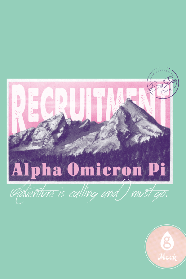 Alpha Omicron Pi Recruitment Stamp