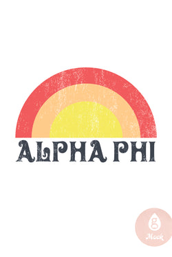 Alpha Phi Distressed Rainbow