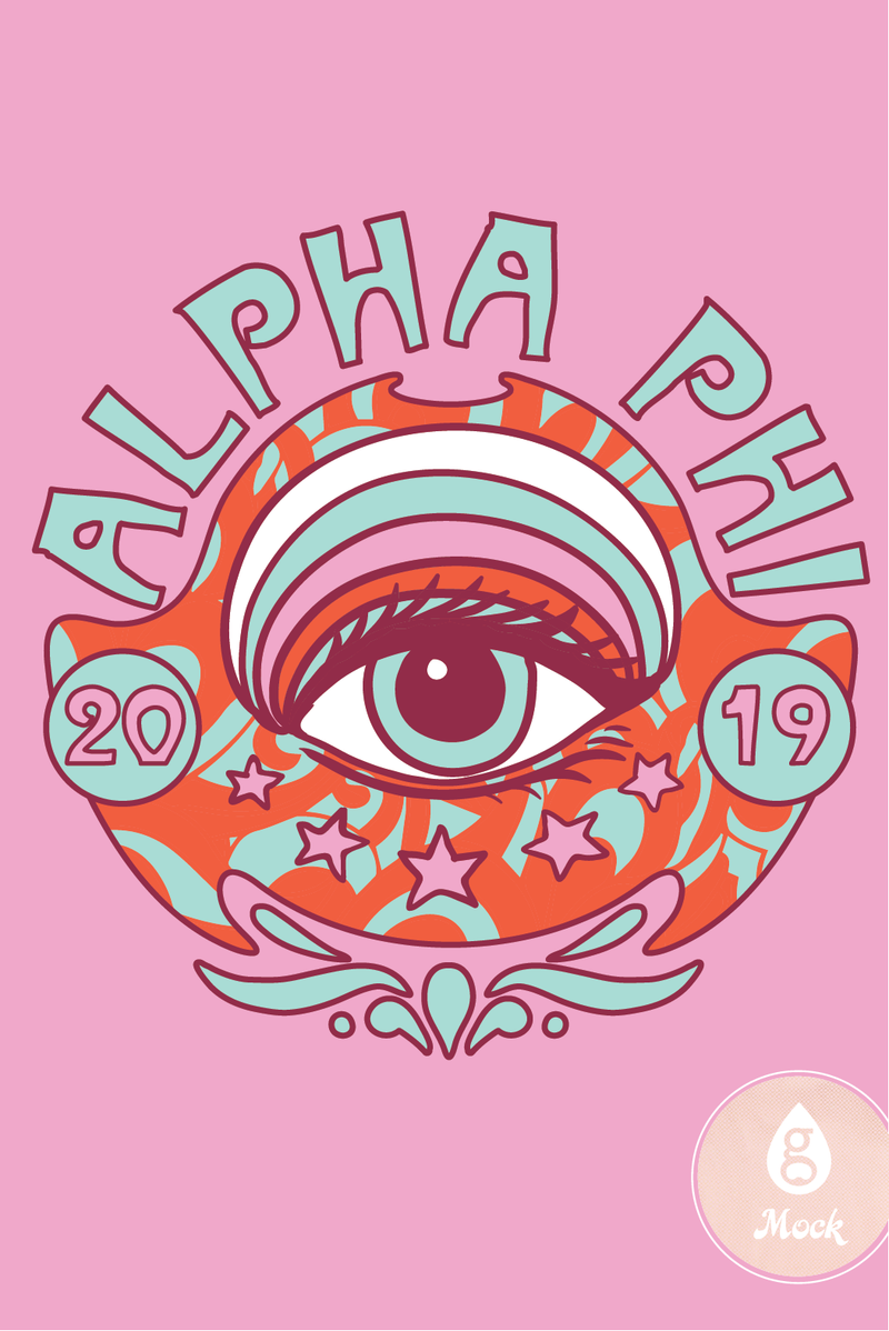 Alpha Phi Psychedelic Seeing Eye