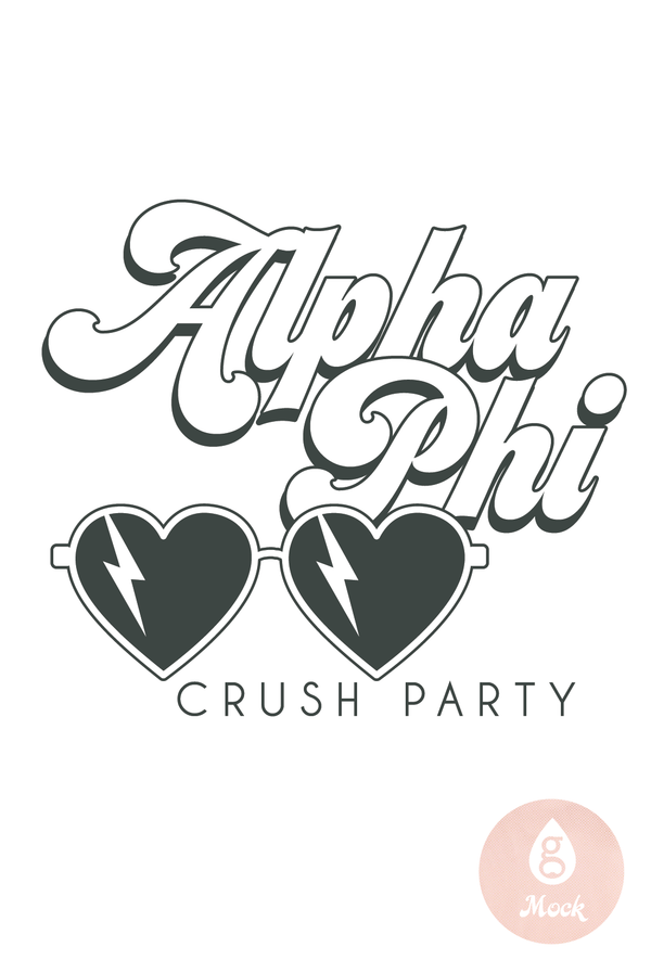 Alpha Phi Heart Sunnies Crush Party