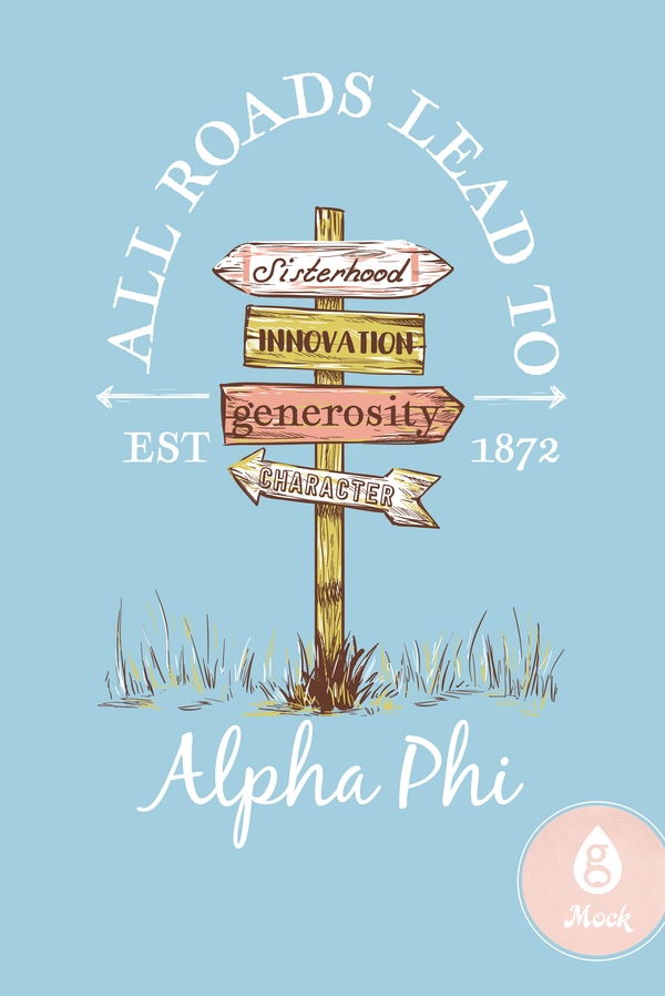 Alpha Phi Recruitment Greek Signs