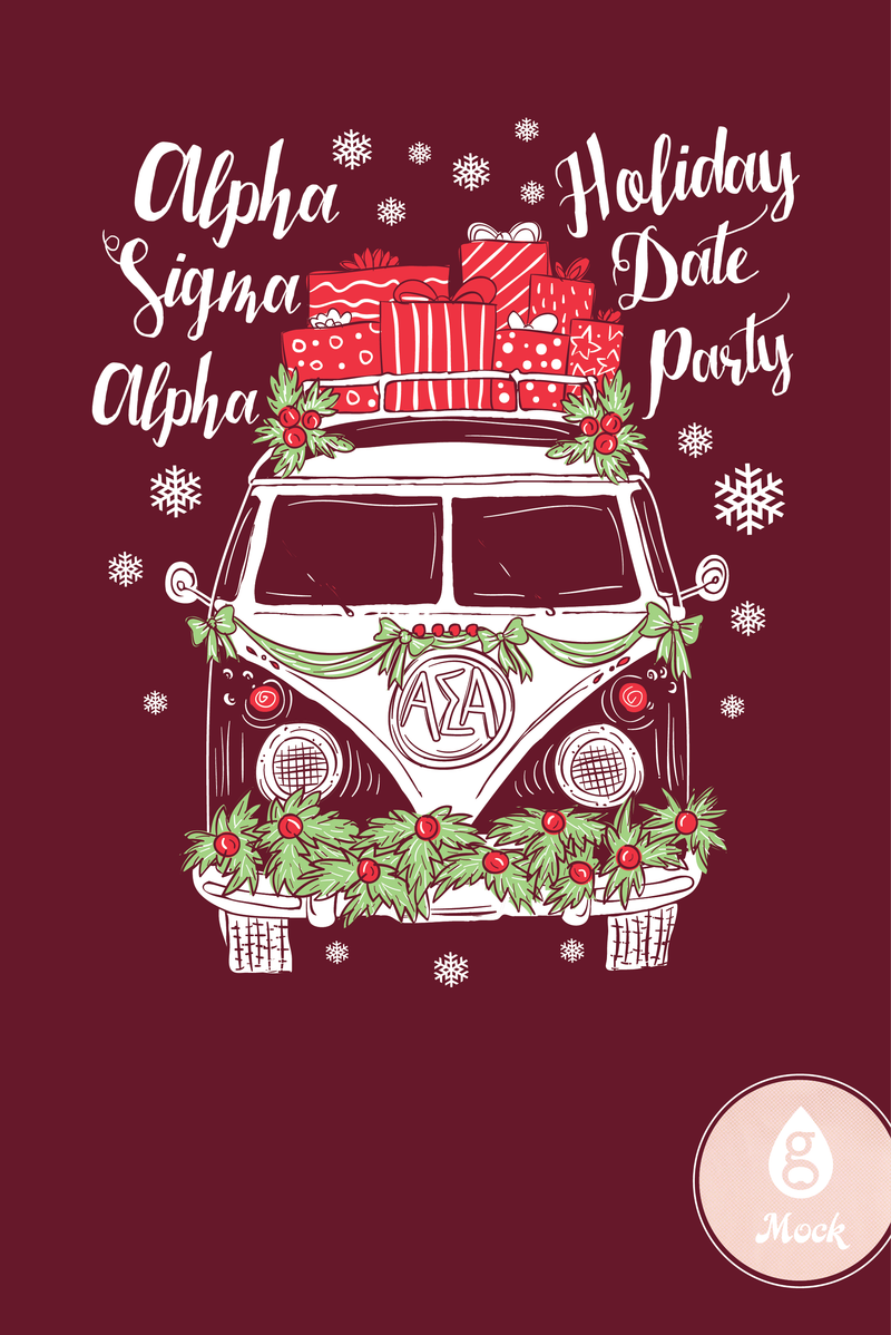 Alpha Sigma Alpha Holiday Date Party VW Van