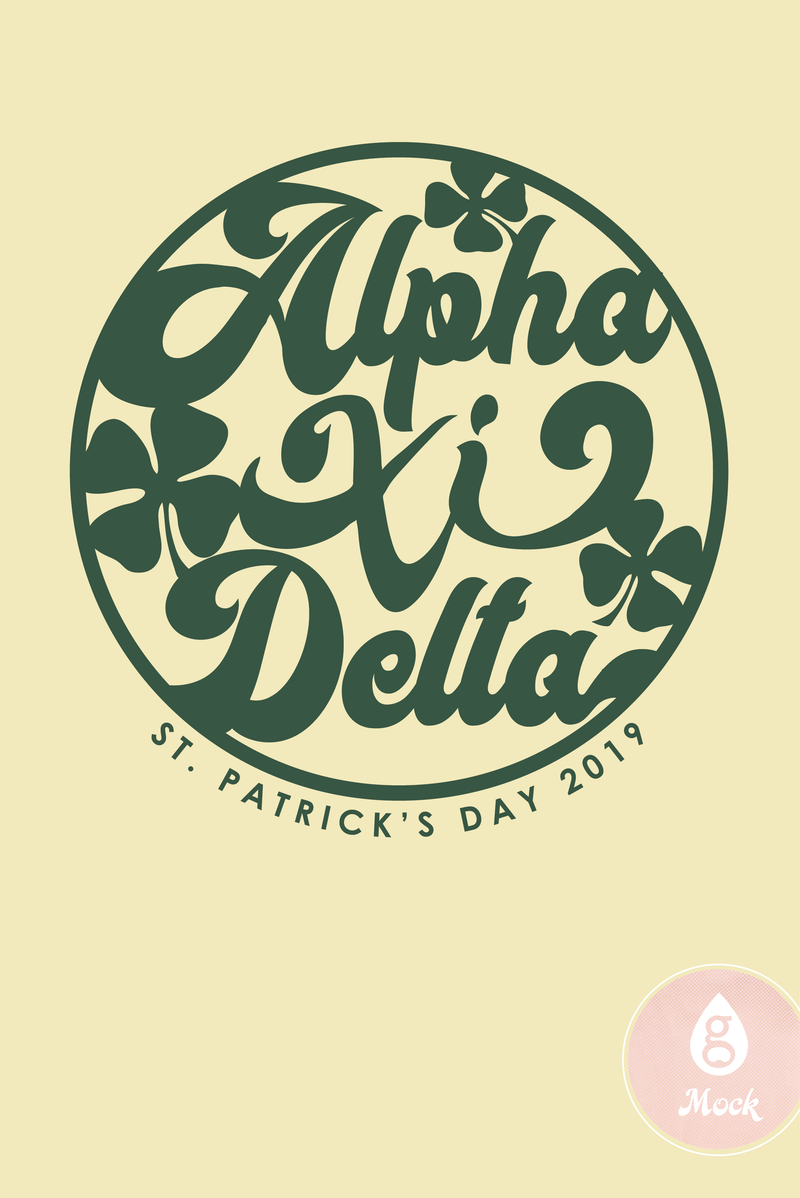 Alpha Xi Delta St. Patrick's Day Circle