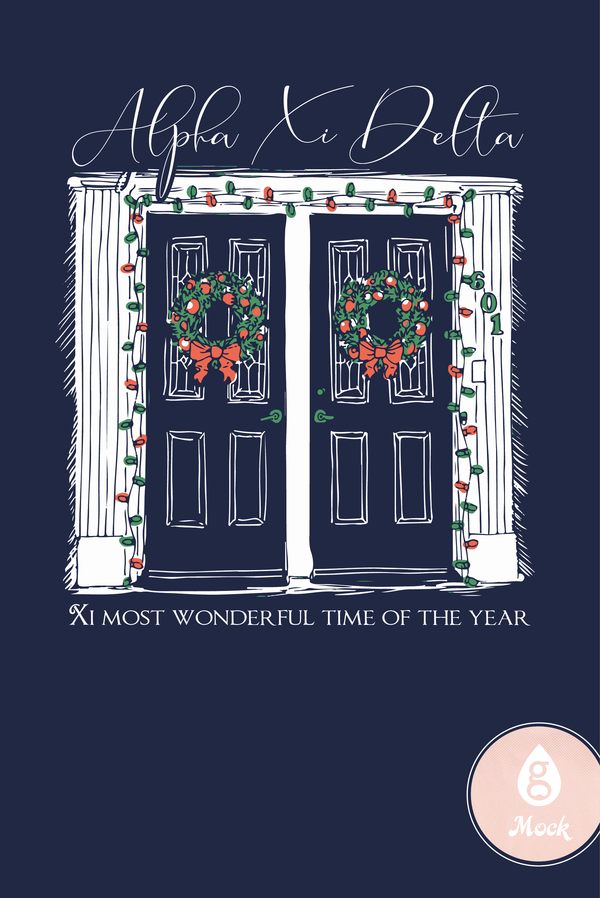Alpha Xi Delta Winter Holiday Doorway