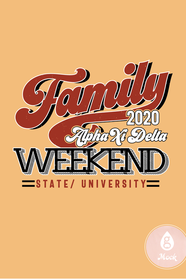 Alpha Xi Delta Retro Family Weekend