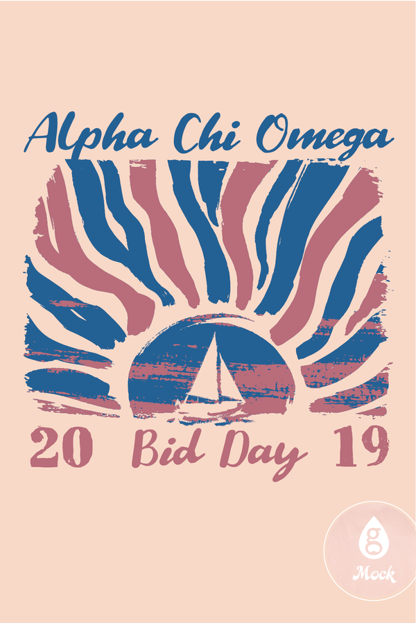 Alpha Chi Omega Bid Day Sail Into the Sun