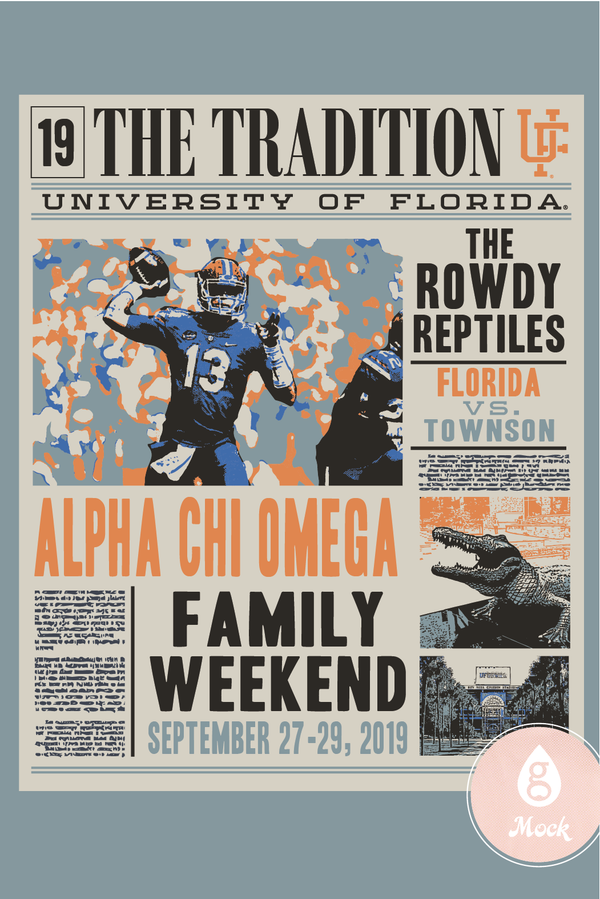 Alpha Chi Omega Family Weekend Newspaper