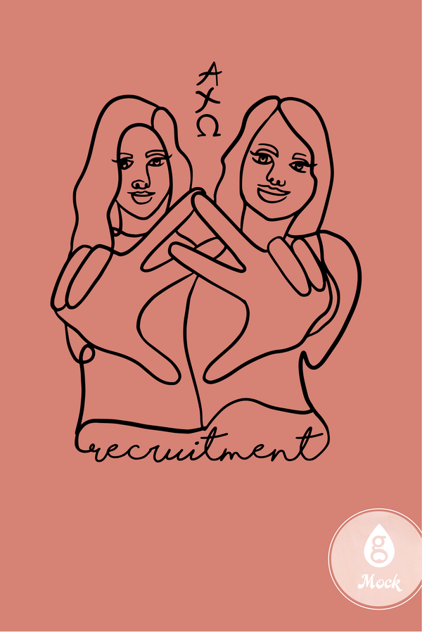 Alpha Chi Omega Recruitment Sketch Signs