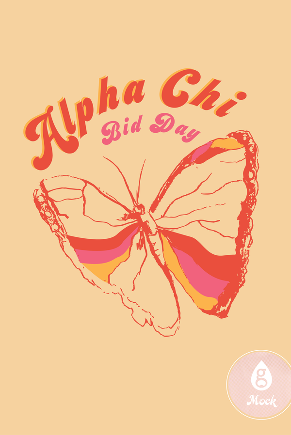 Alpha Chi Omega Bid Day Sorbet Butterfly