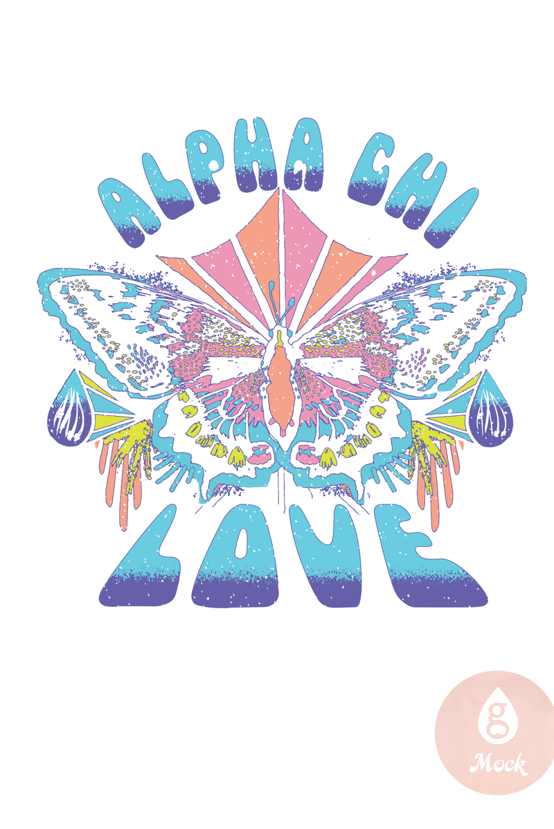 Alpha Chi Omega Butterfly Love