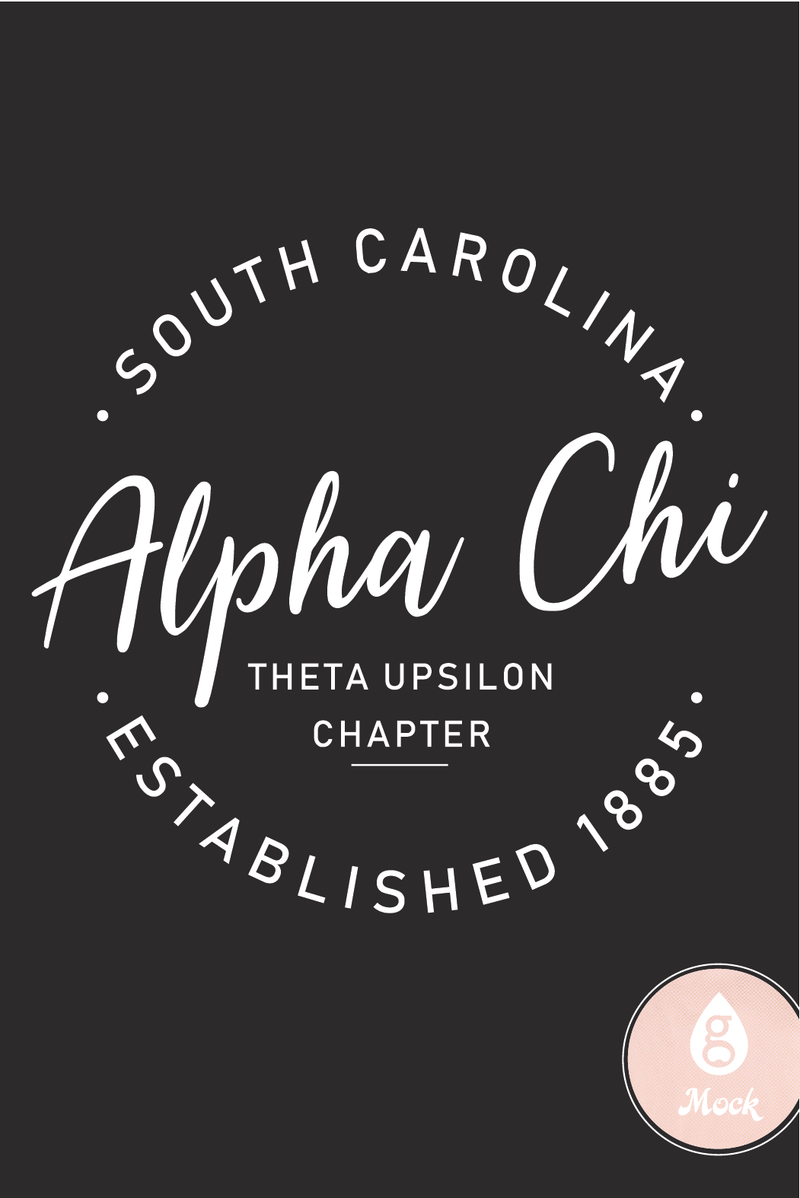 Alpha Chi Omega Established Script Circle