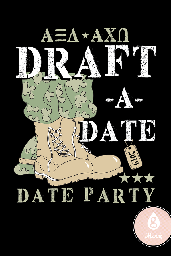 Alpha Xi Delta Date Party Military
