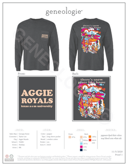 Aggie Royals Holiday $26.00