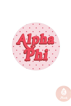 Alpha Phi Girly Dots