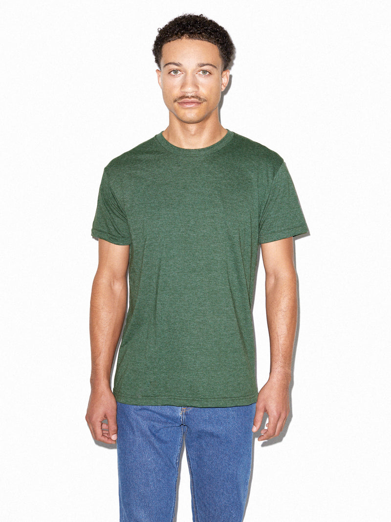 American Apparel BB401 Unisex Poly-Cotton USA Made Crewneck T-Shirt