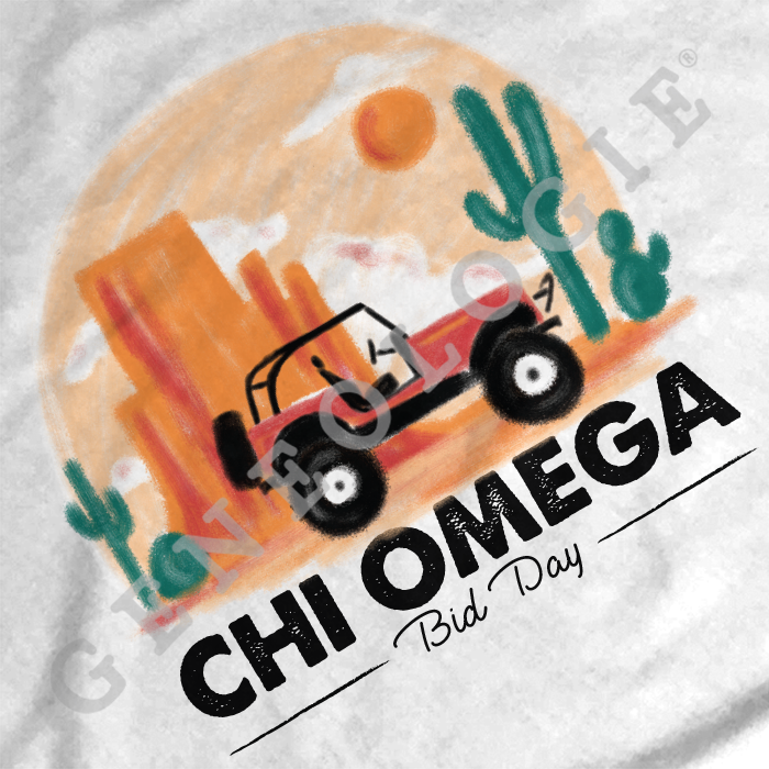 Chi Omega Bid Day Jeep