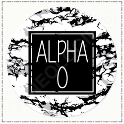 Alpha Omicron Pi BS90 Marble Button