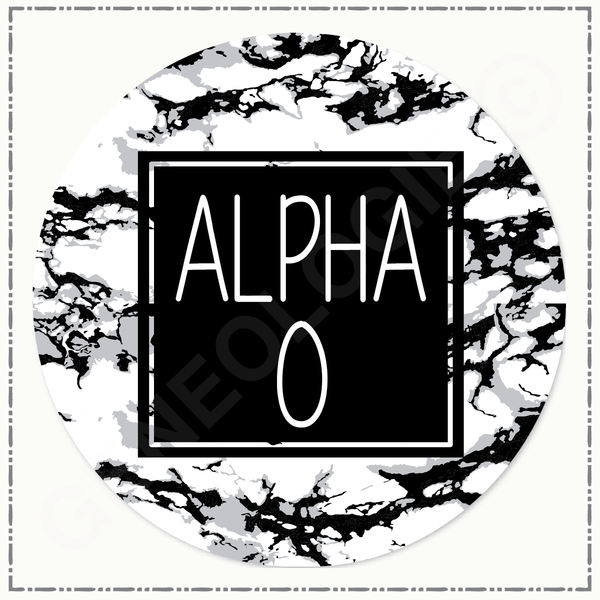 Alpha Omicron Pi Marble Button