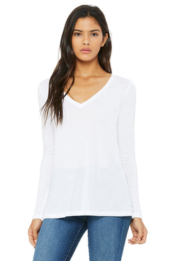 Bella + Canvas 8855 Women's Flowy Long Sleeve V-Neck