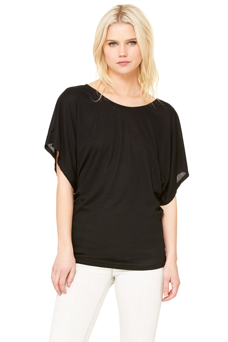 Bella + Canvas 8821 Women's Flowy Draped Sleeve Dolman Tee