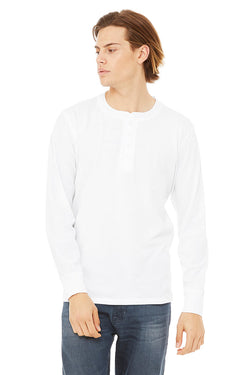 Bella + Canvas 3150 Men's Jersey Long Sleeve Henley