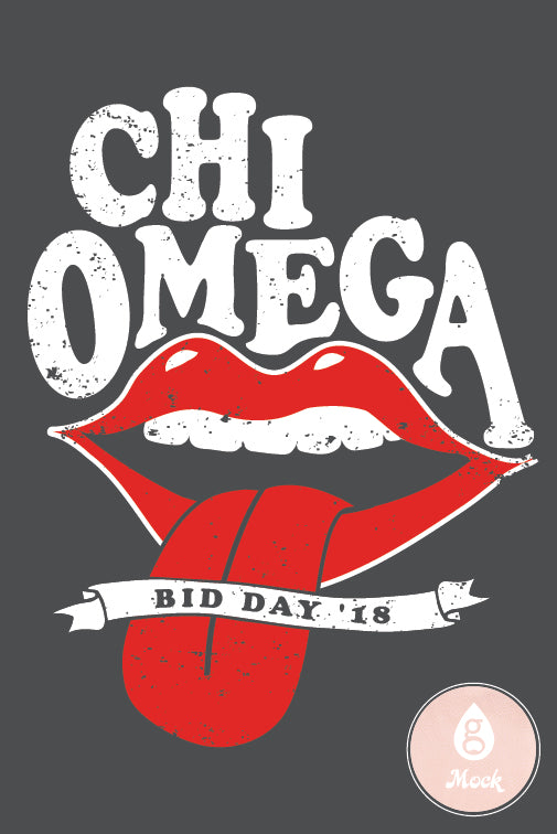 Chi Omega Bid Day Lips