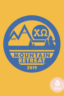 Chi Omega Mountain Retreat Vintage Patch