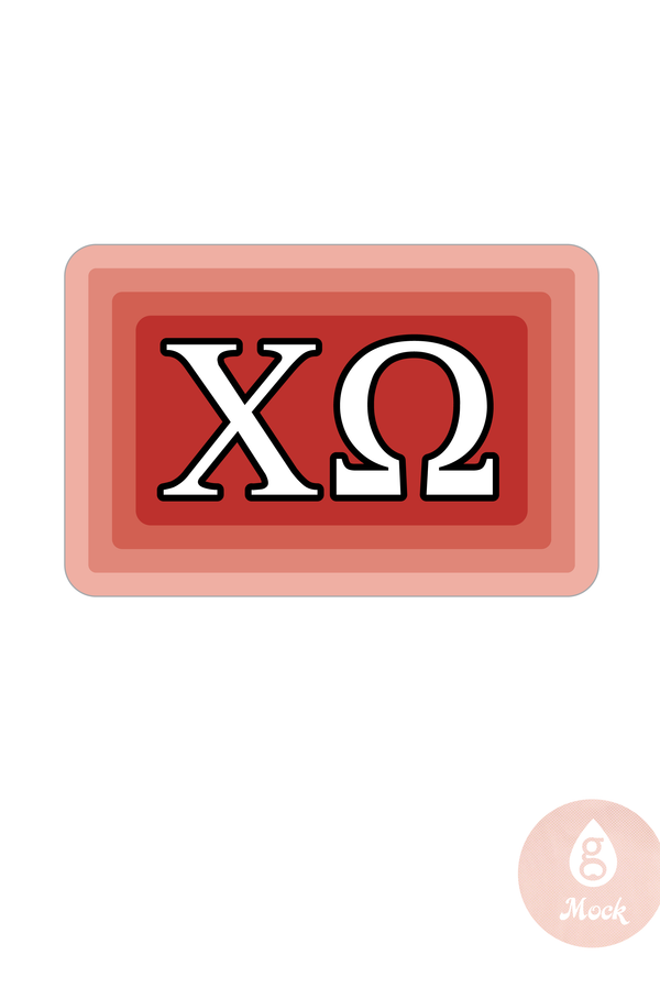Chi Omega Greek Decal