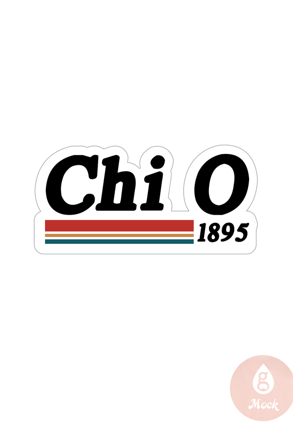 Chi Omega Stripe Decal