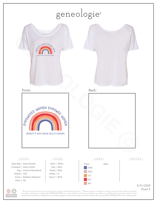 COS Rainbow Empower $21.00