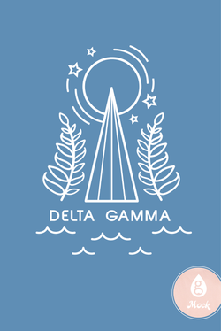 Delta Gamma Moon Mountain Sketch