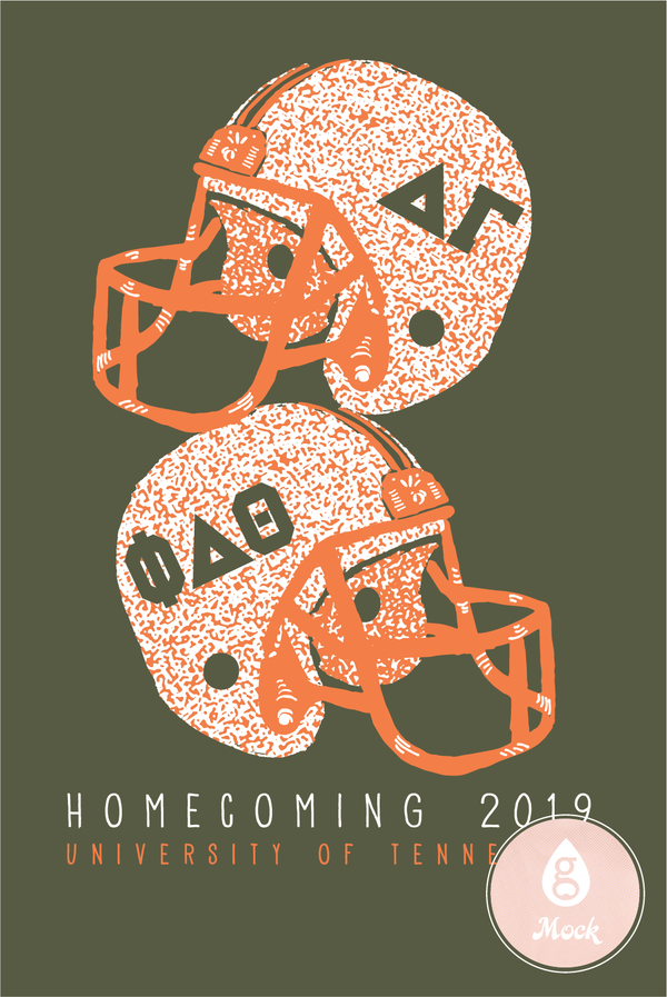 Delta Gamma Homecoming Helmets
