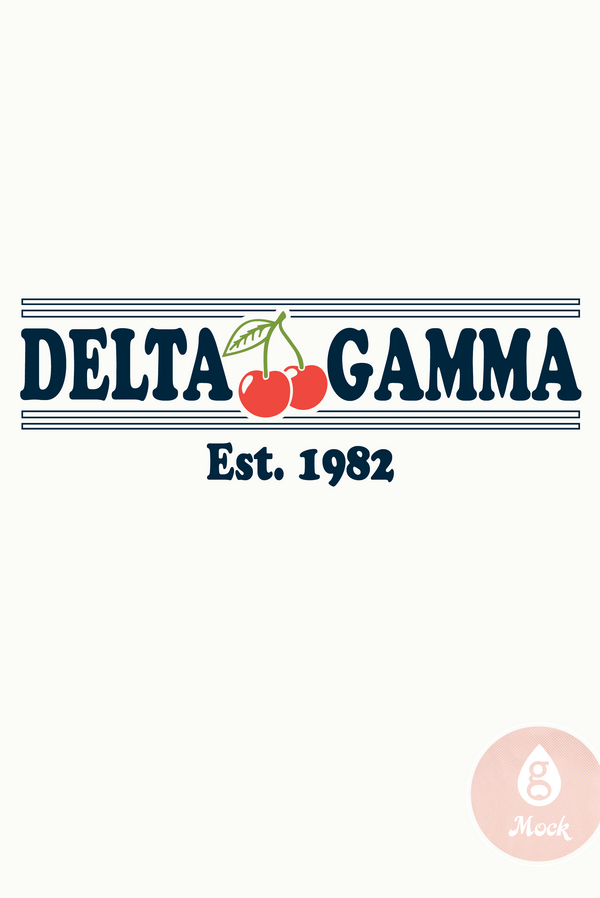 Delta Gamma Vintage Cherry on Top