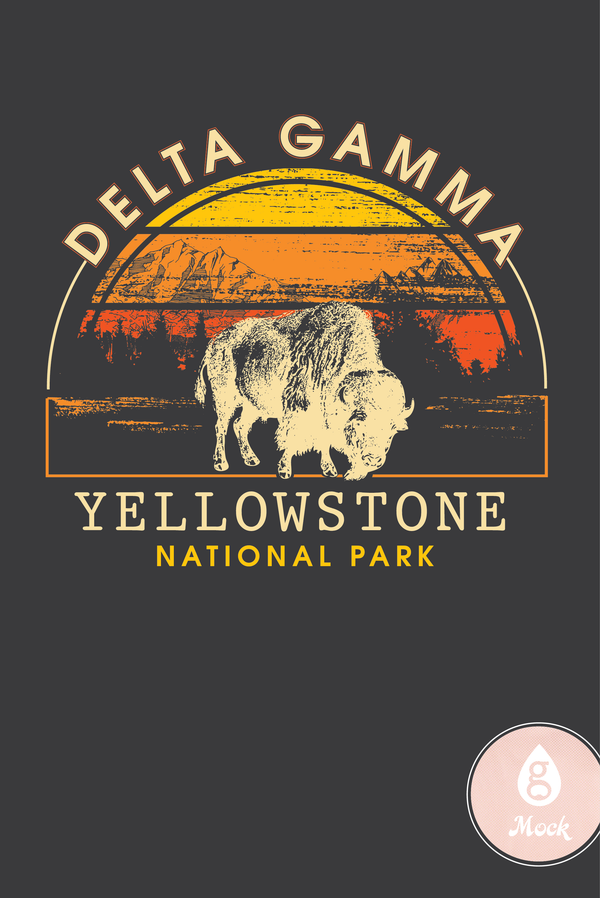 Delta Gamma Yellowstone Mountain