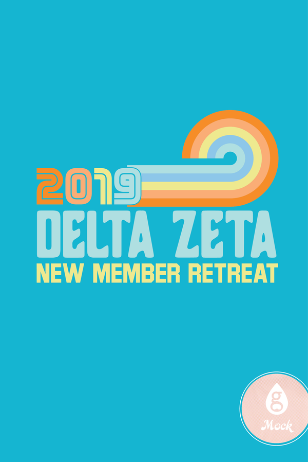 Delta Zeta New Member Retreat Vintage Stripes
