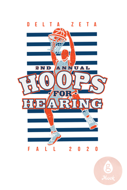 Delta Zeta Hoops for Hearing Stripes