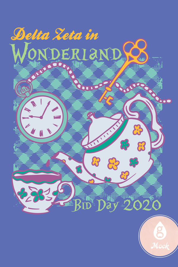 Delta Zeta Alice in Wonderland Teapot