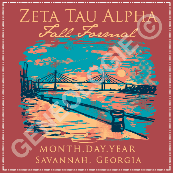 Zeta Tau Alpha Savannah Bridge Scape (F257)
