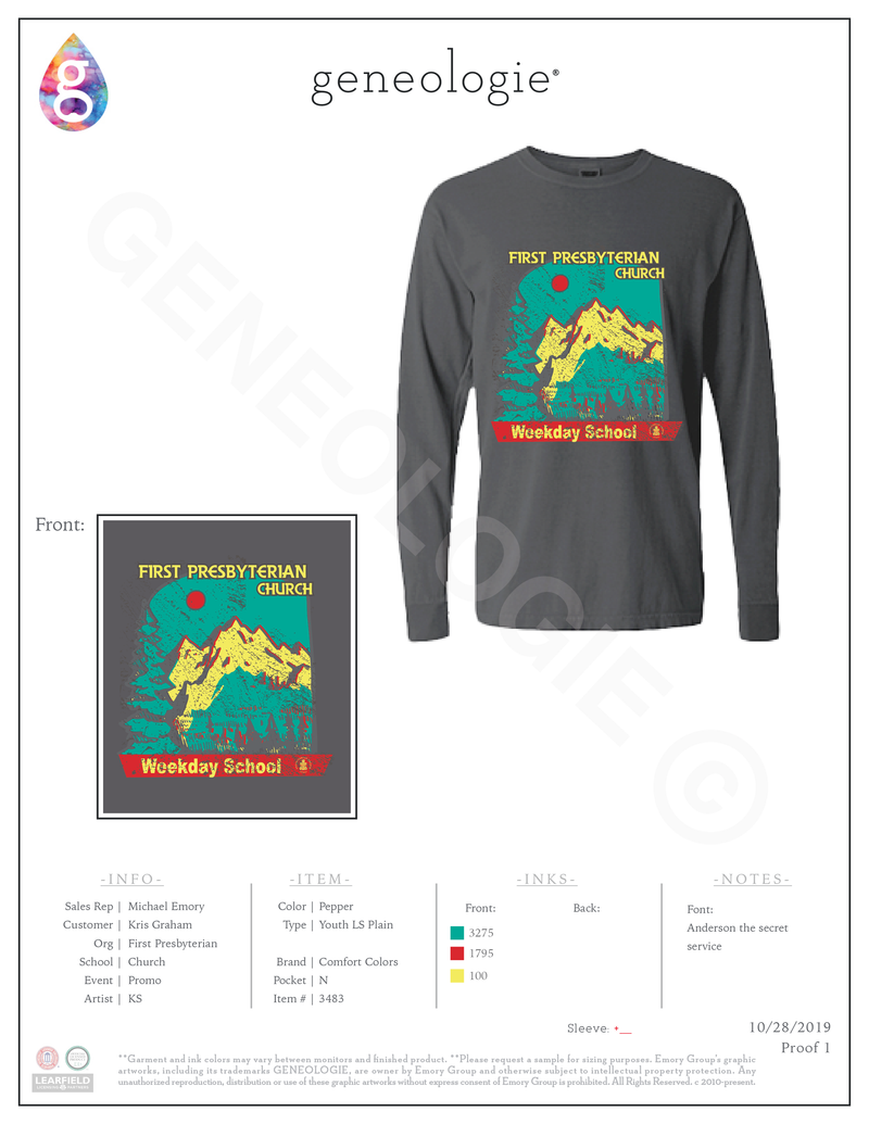 Wilderness Youth Long Sleeve $25.16